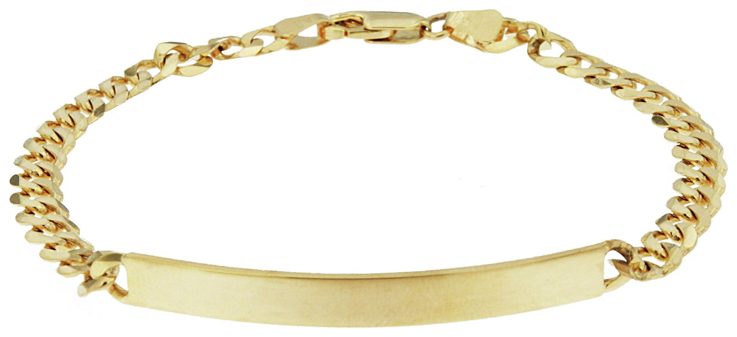 Image of Bracci - 9 Carat Gold - Curb ID Bracelet.