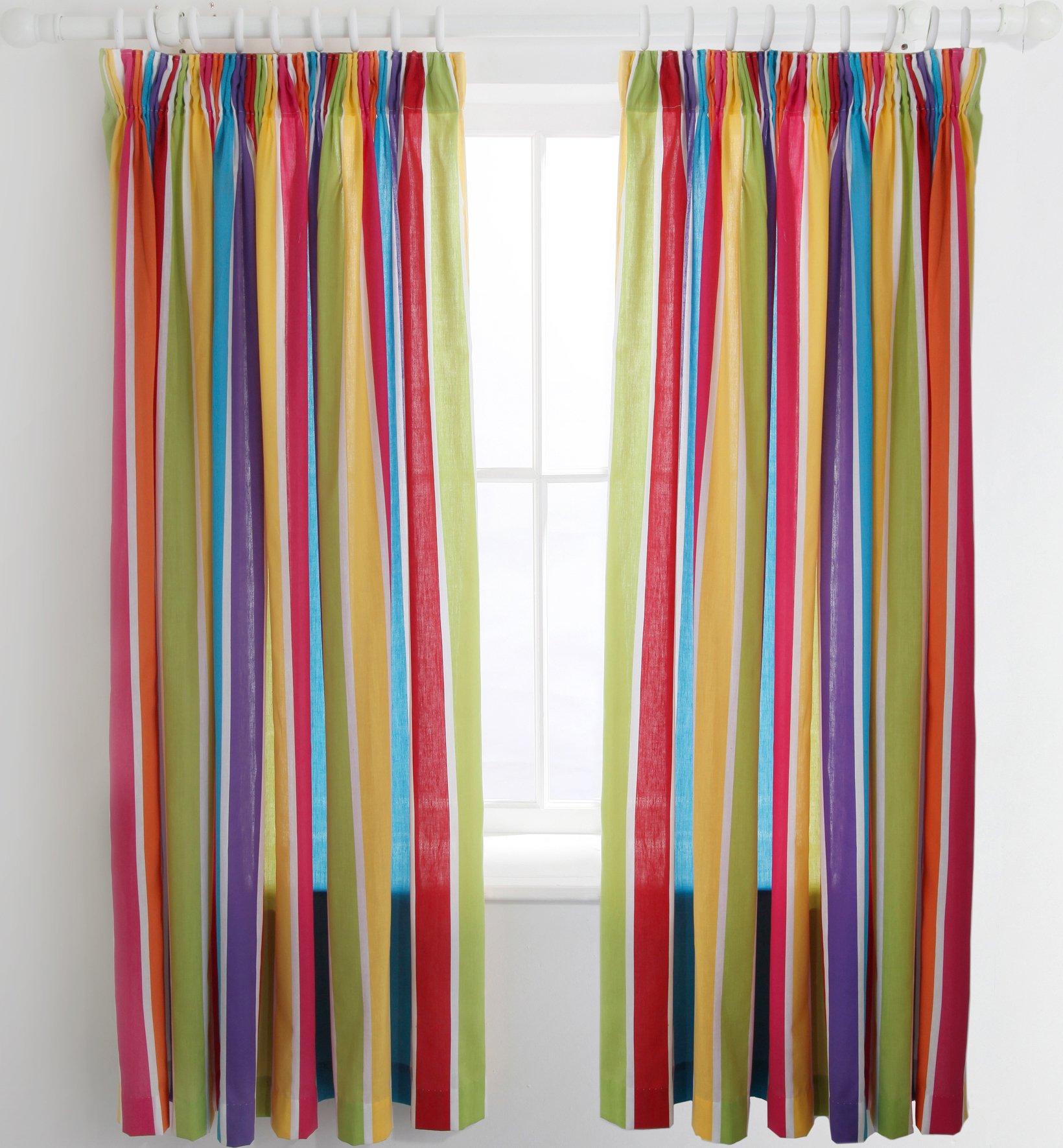 colourmatch kidsu0027 blackout curtains 168 x 137cm stripe