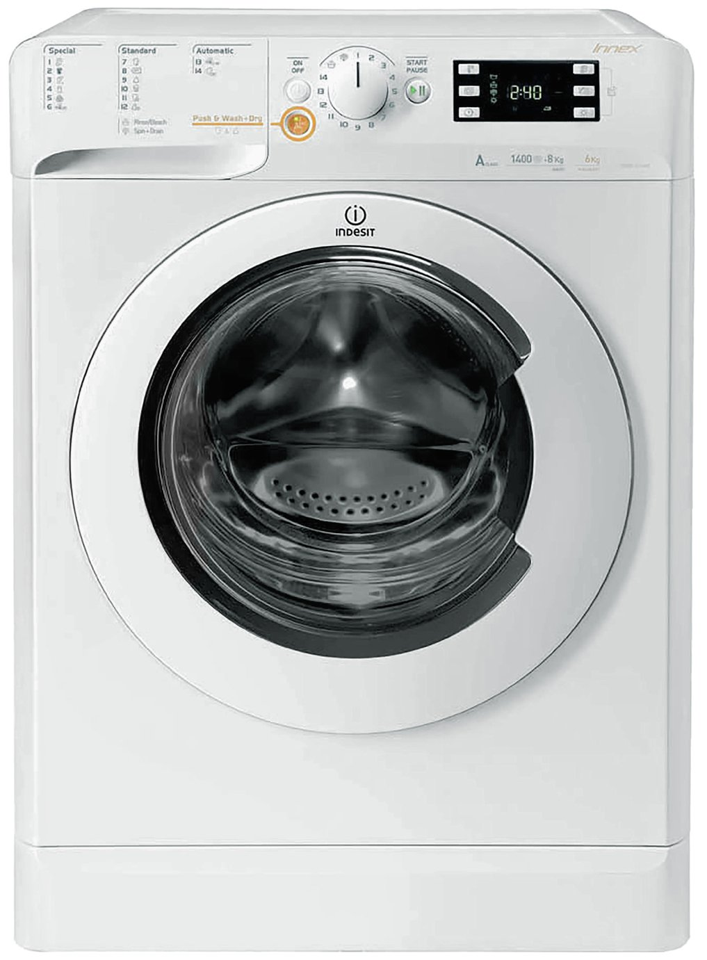 Indesit XWDE75140XW 7KG / 5KG 1400 Spin Washer Dryer - White