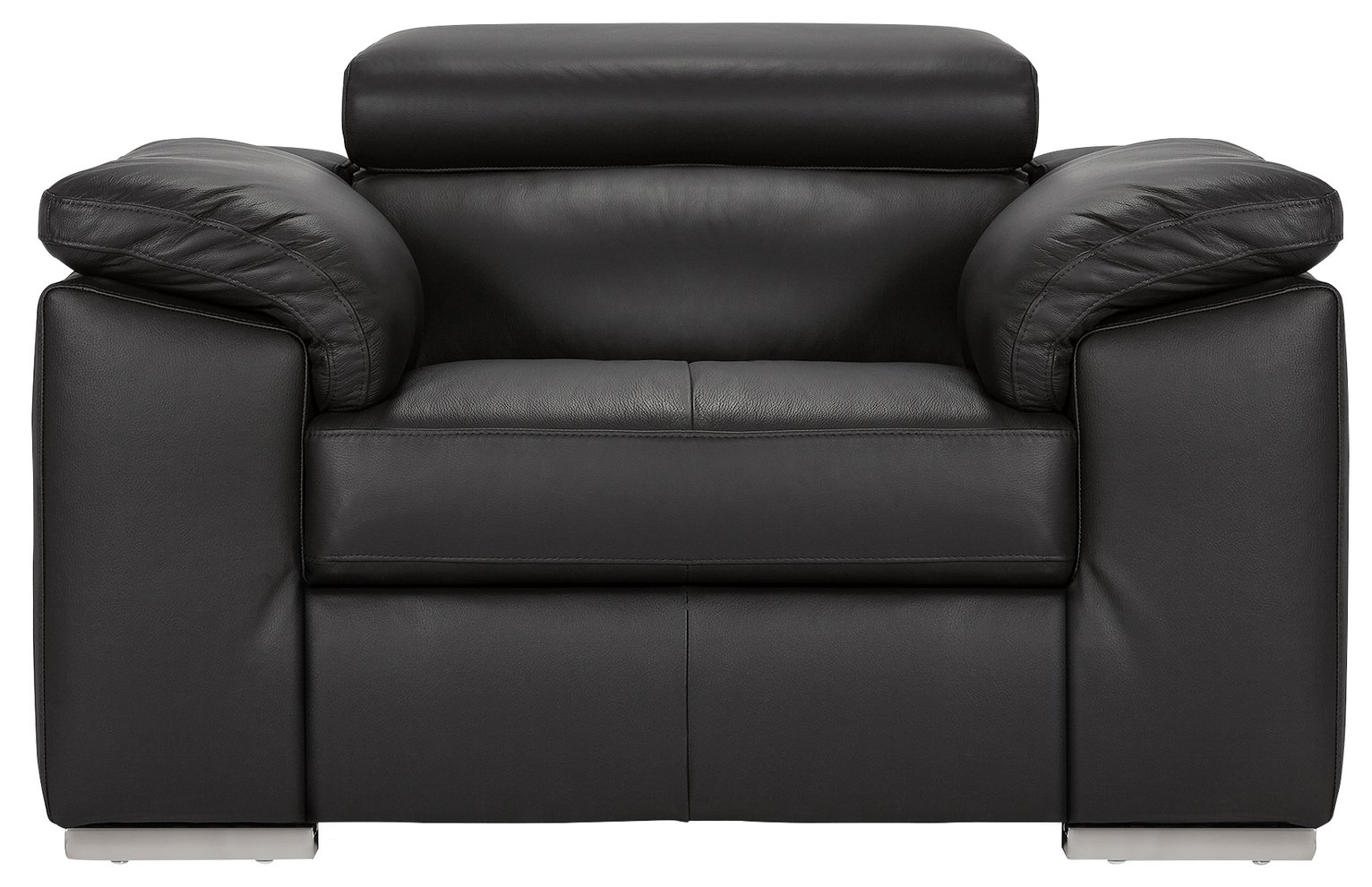 Argos Home Valencia Leather Armchair - Black
