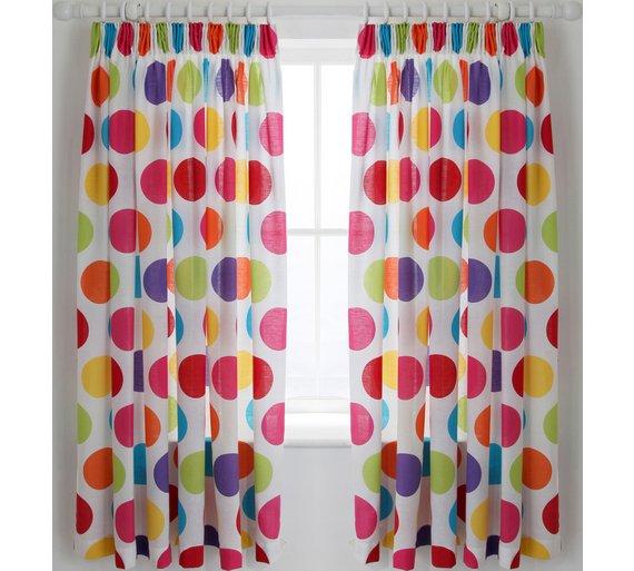 Buy ColourMatch Kids' Spot Blackout Curtains - 168 x 137cm at ...