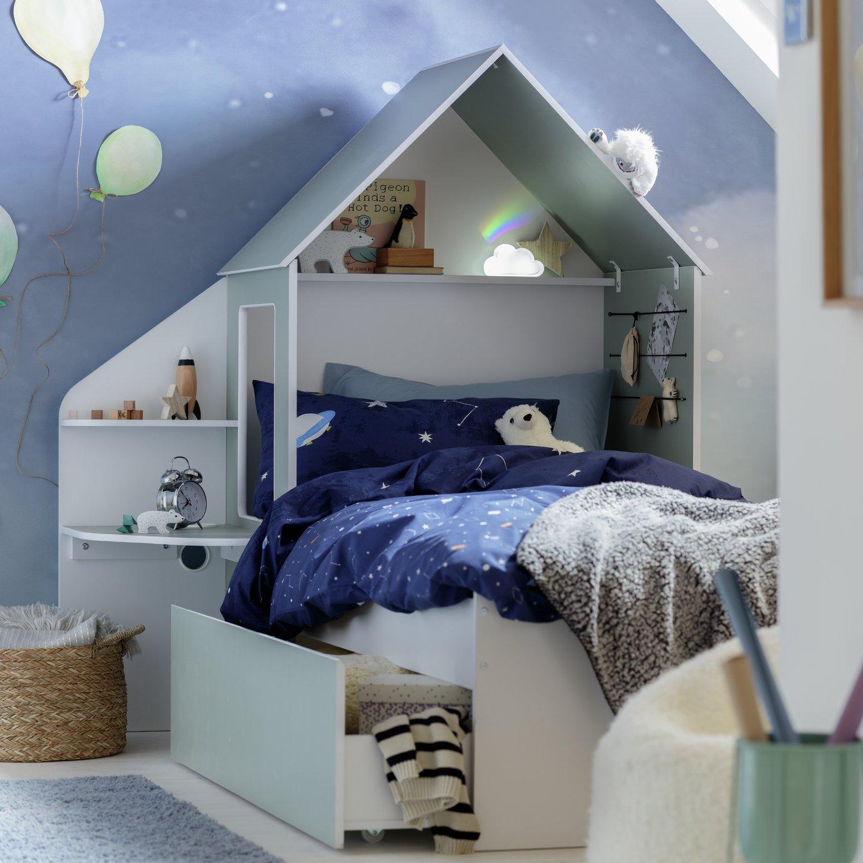 Argos Home Boutique Single Cabin Bed & Kids Mattress - Green