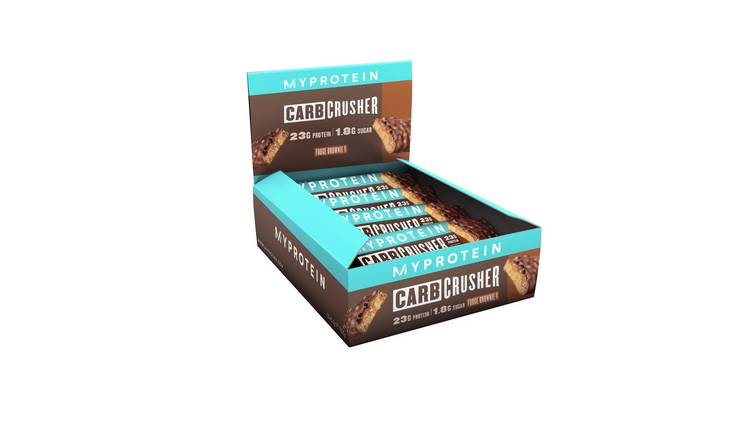 Myprotein Carb Crusher Fudge Brownie Snack Bars x12