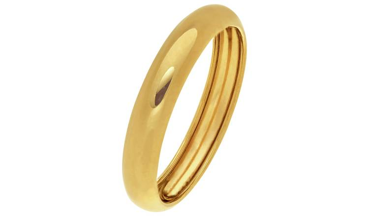 Revere 9ct Gold Rolled Edge Wedding Ring - 4mm - R