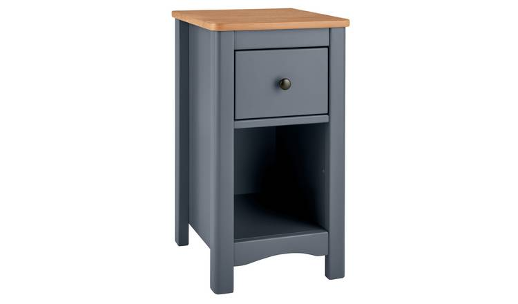 Argos Home Bournemouth Compact Bedside Table - Dark Grey