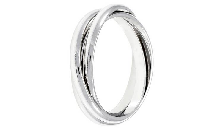 Revere Sterling Silver Three Band Ring - Q