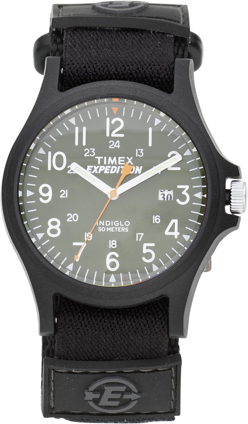'Timex - Mens Expedition Acadia Green Dial Strap - Watch