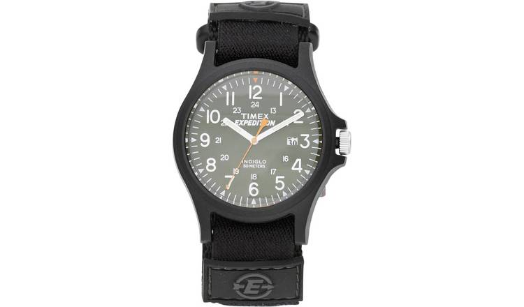 ab8eb46a8 Timex Men's Expedition Black Strap Acadia Green Dial Watch487/3800