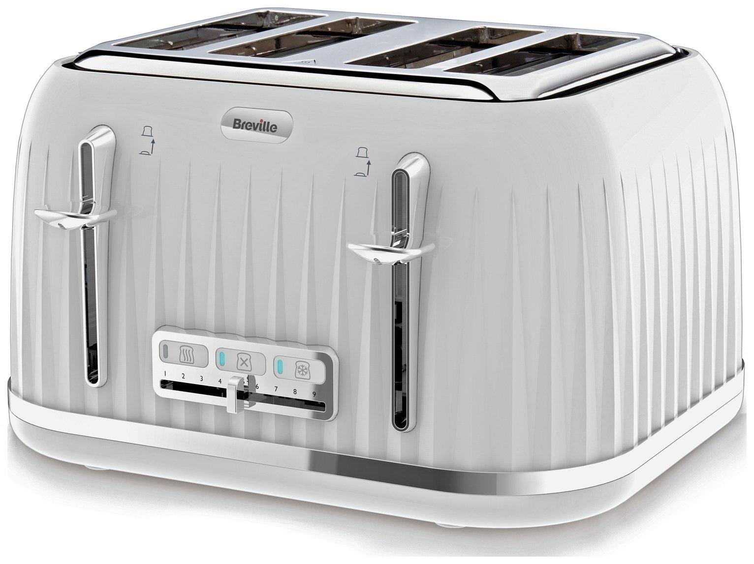 Image of Breville - Toaster - VTT470 Impressions - 4 Slice - White