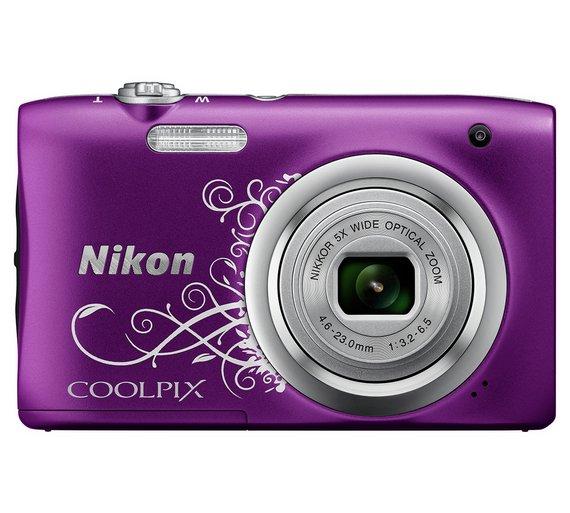 Buy Nikon Coolpix A100 20MP 5x Zoom pact Camera Purple at