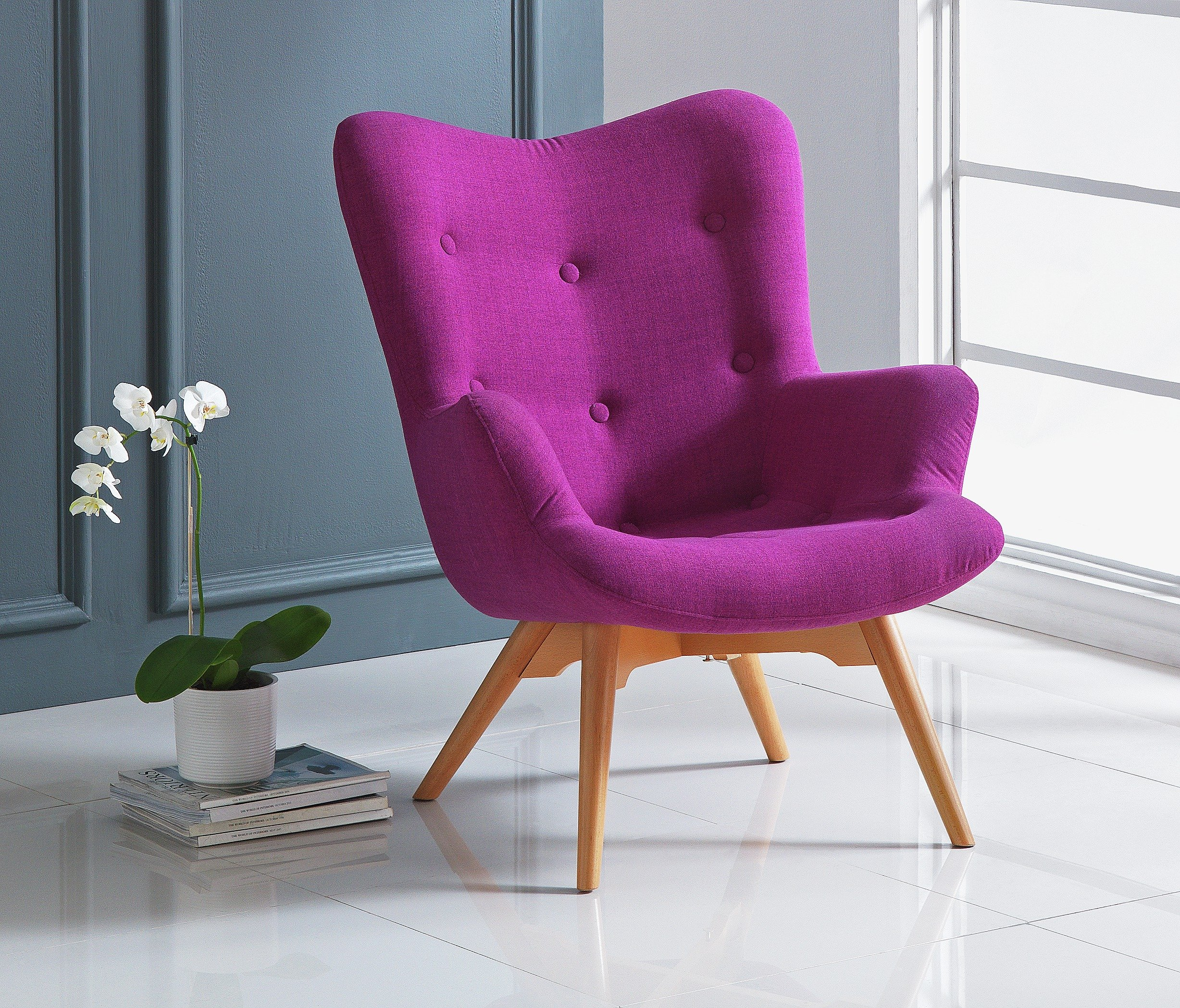 buy hygena angel fabric chair - pink at argos.co.uk - your online