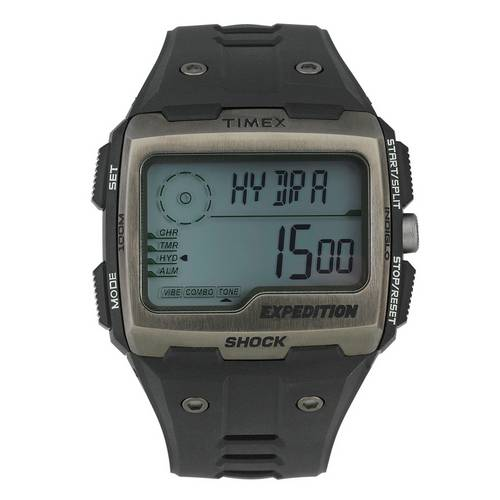 c96af3916490 Buy Timex Men s Expedition Black Plastic Strap Digital Watch
