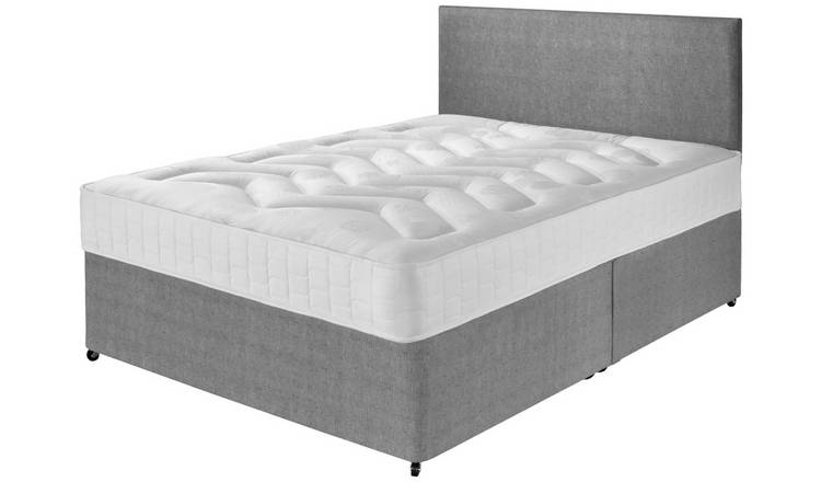 Argos Home Elmdon Double Deep Ortho Divan Bed - Grey
