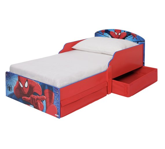 Buy Spider Man Toddler Bed With Drawers