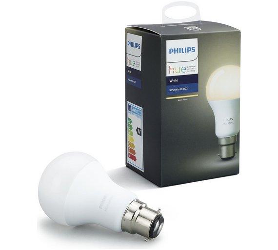 B22 Light Bulb: Philips Hue White Wireless LED 9.5W B22 Light Bulb487/7662,Lighting