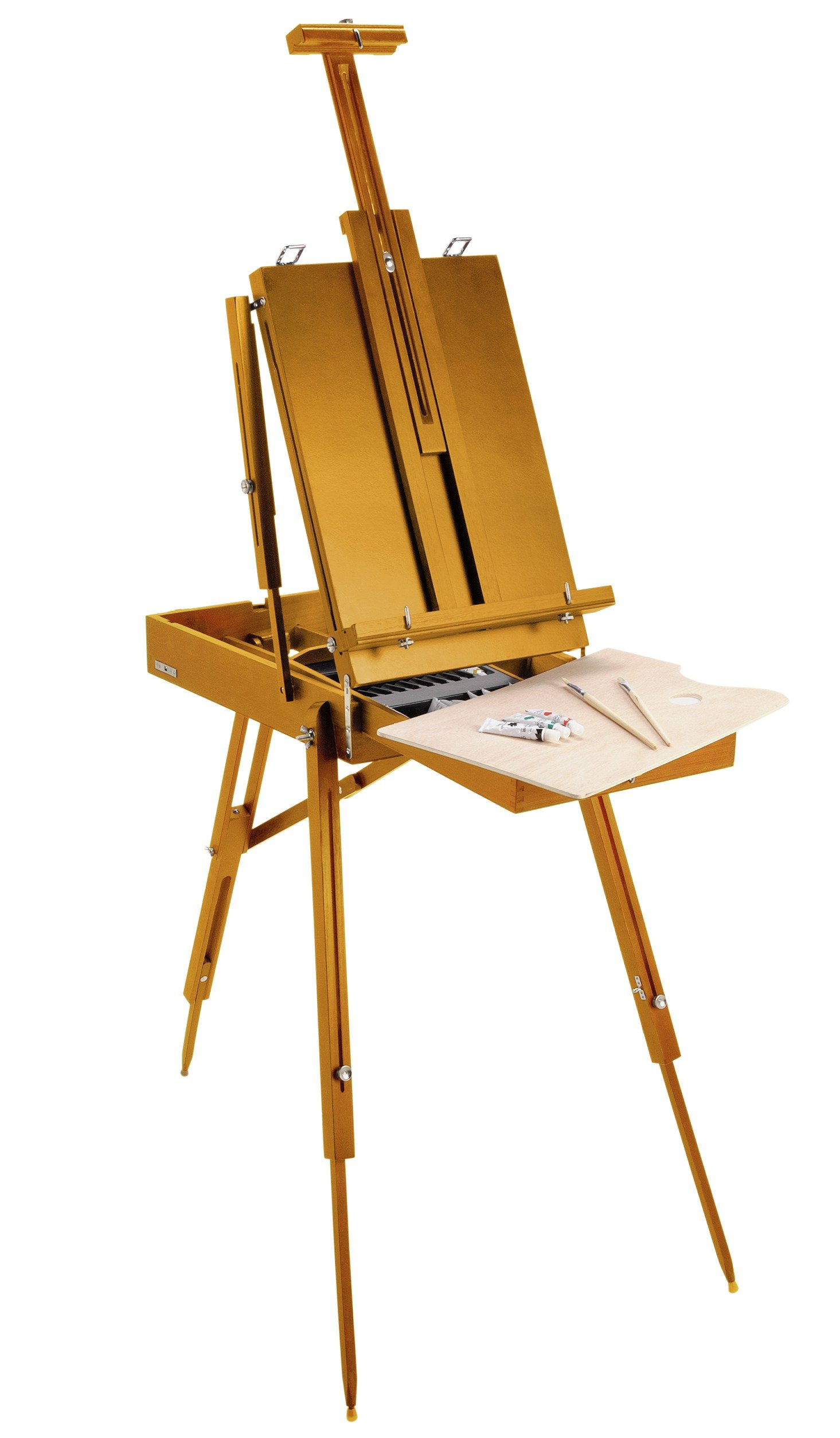 how to set up an easel
