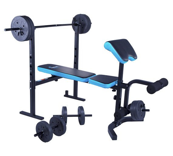 Buy Men S Health Folding Workout Bench With 35kg Weights