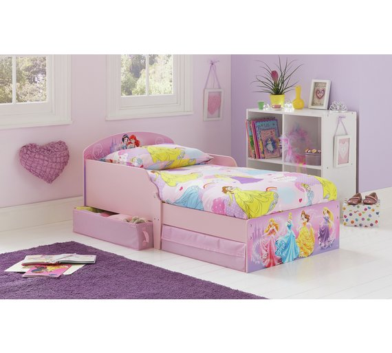 Buy HOME Disney Princess Toddler Bed With Drawers