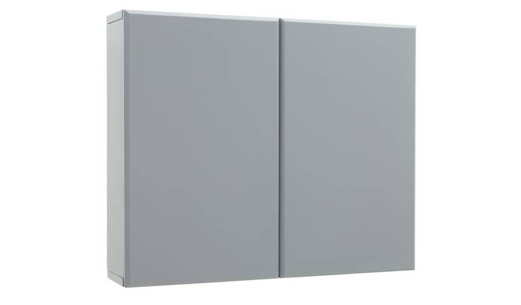 Argos Home Gloss Double Wall Cabinet - Grey