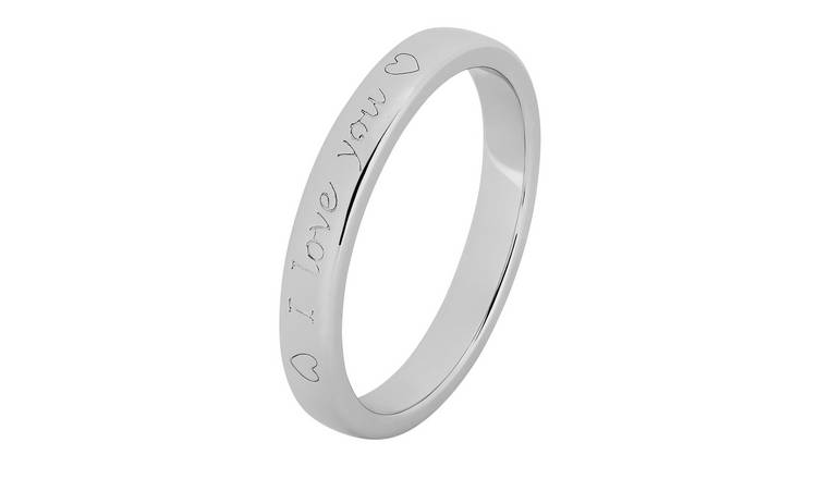 Revere Sterling Silver 'I Love You' Ring - N
