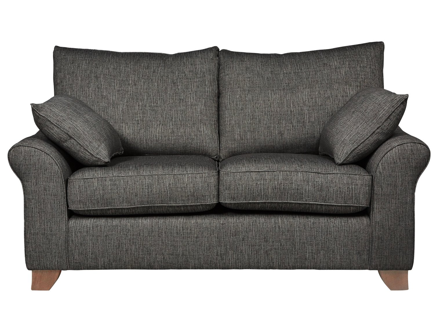 Argos Home Gracie 2 Seater Fabric Sofa - Charcoal