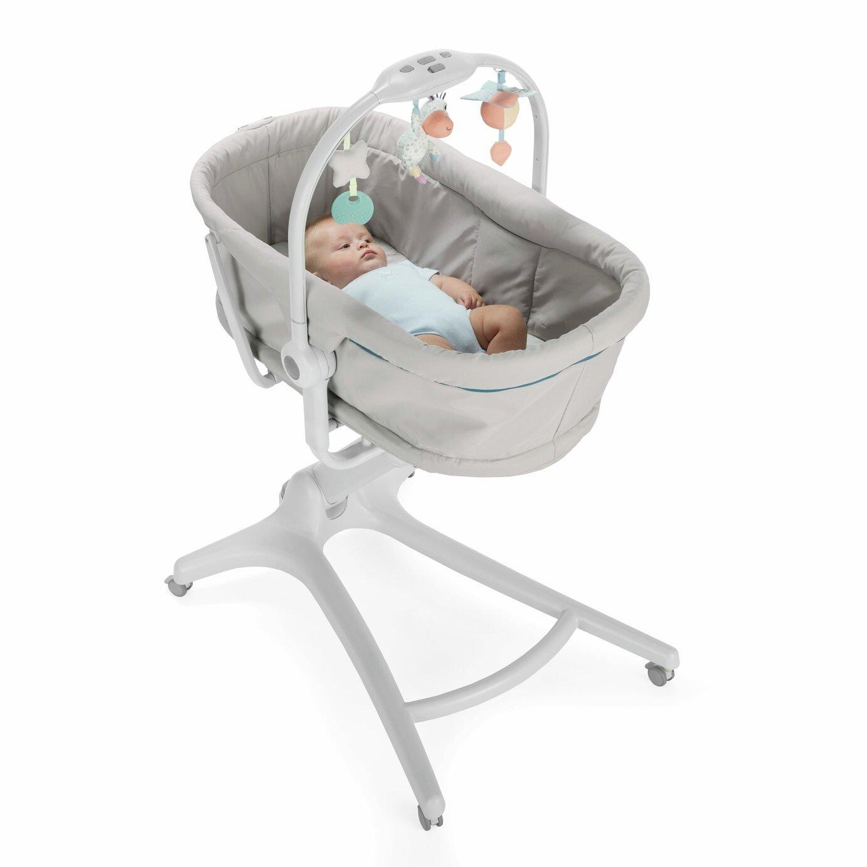 Chicco Baby Hug 4-in-1 Bedside Sleeper Crib - Glacial