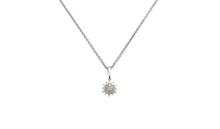 Revere Sterling Silver 0.08ct tw Diamond Pendant Necklace