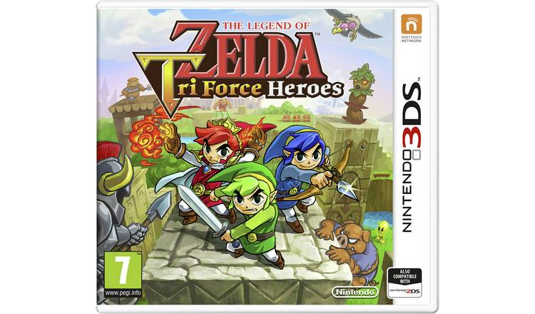 The Legend of Zelda Tri-Force Heroes Nintendo 3DS Game