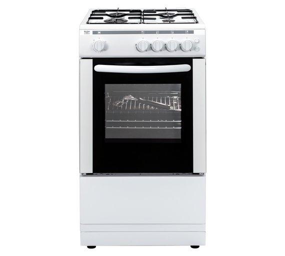 Buy Bush AG56S Single Gas Cooker - White | Freestanding cookers | Argos