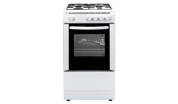Bush AG56S 50cm Single Oven Gas Cooker - White