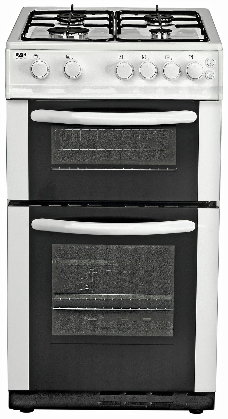 bush ag56tw double gas cooker white review. Black Bedroom Furniture Sets. Home Design Ideas