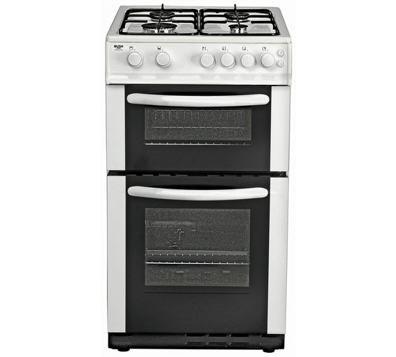 Buy Bush AG56TW Double Gas Cooker - White | Freestanding cookers | Argos
