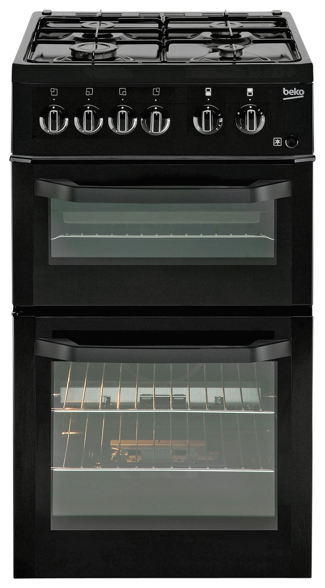 Image of Beko - BDG5181 Single - Gas Cooker - Black
