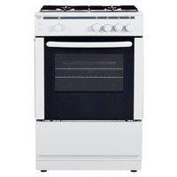Bush - AG66SW - Gas Cooker- White