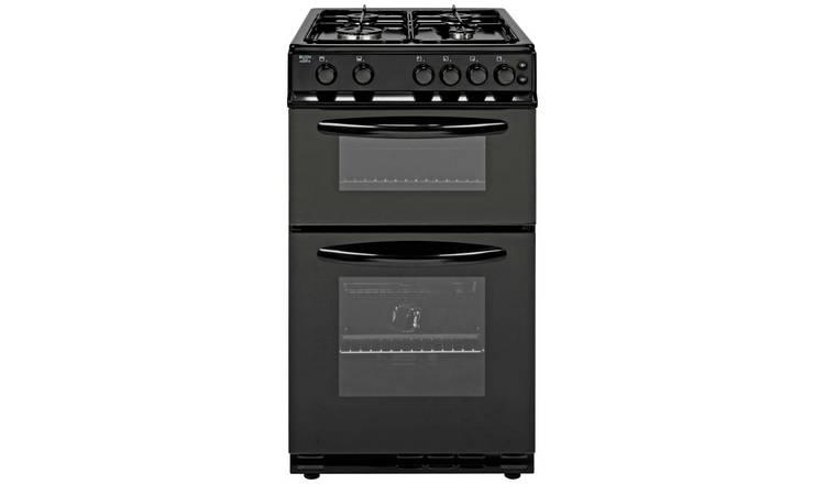 Buy Bush AG56TB 50cm Twin Cavity Gas Cooker - Black | Freestanding cookers  | Argos