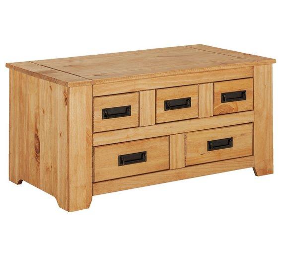 Storage Coffee Table Pine: Buy Penton Storage 5 Drawer Coffee Table