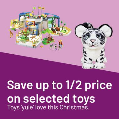 Toys 'yule' love this Christmas - save up to 1/2 price on selected toys.