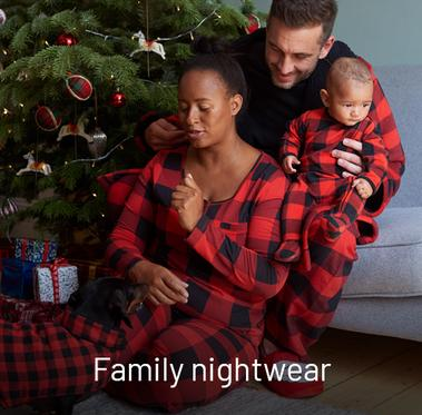 Family nightwear. Perfect for cosy nights in this Christmas.