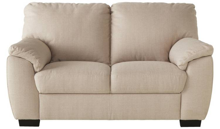 Argos Home Milano 2 Seater Fabric Sofa - Beige