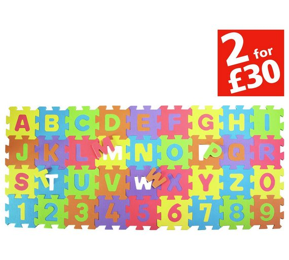 chad valley numbers and letters foam mats4963617