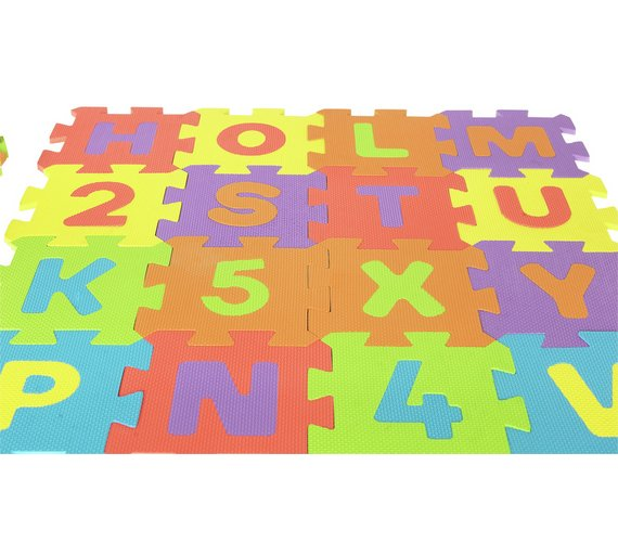 Buy Chad Valley Numbers and Letters Foam Mats | Garden games | Argos