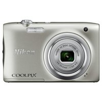 Nikon - Coolpix A100 20MP 5x - Zoom - Compact Camera - Silver