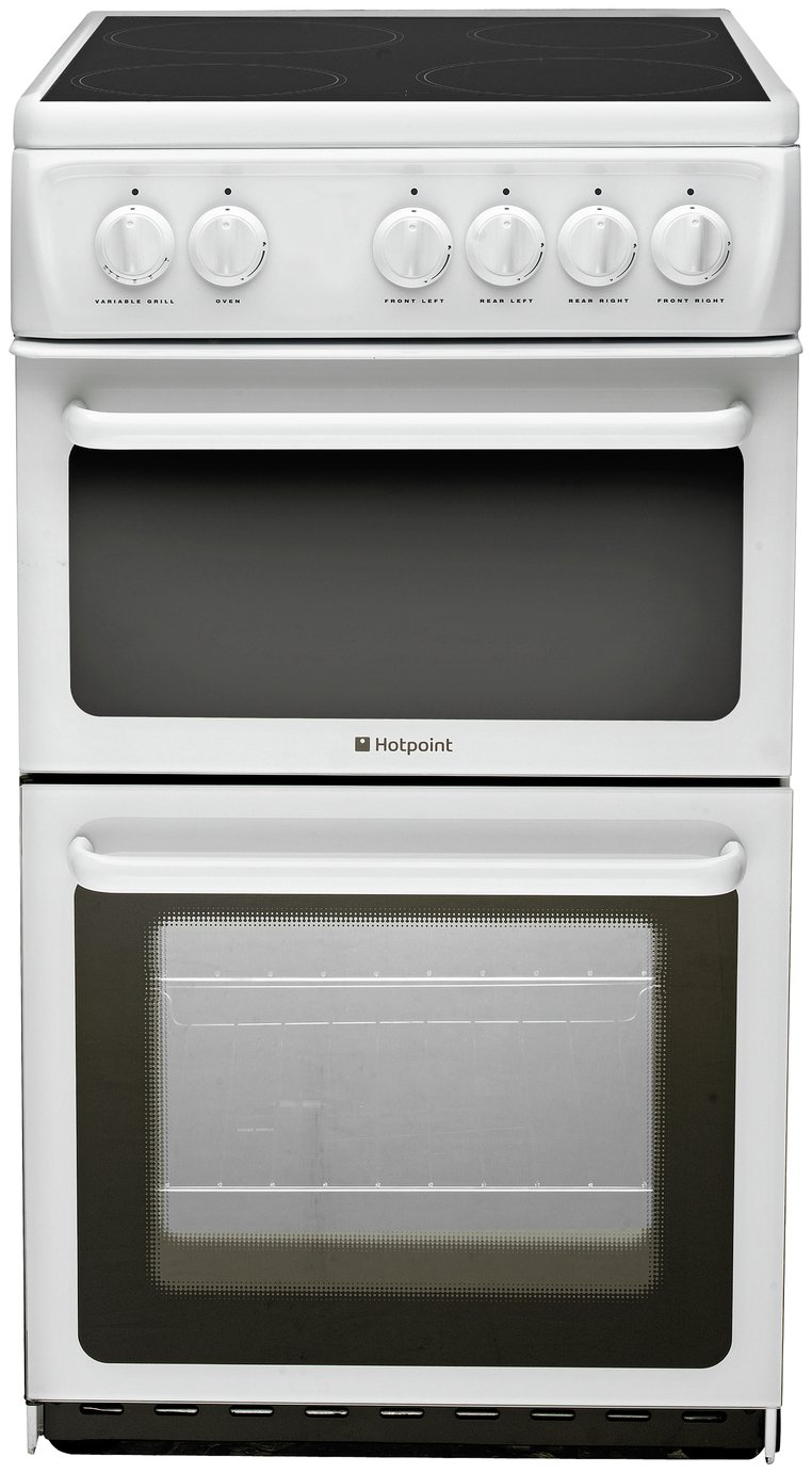 Hotpoint - HAE51P Twin Cavity Electric Cooker - White + Installation