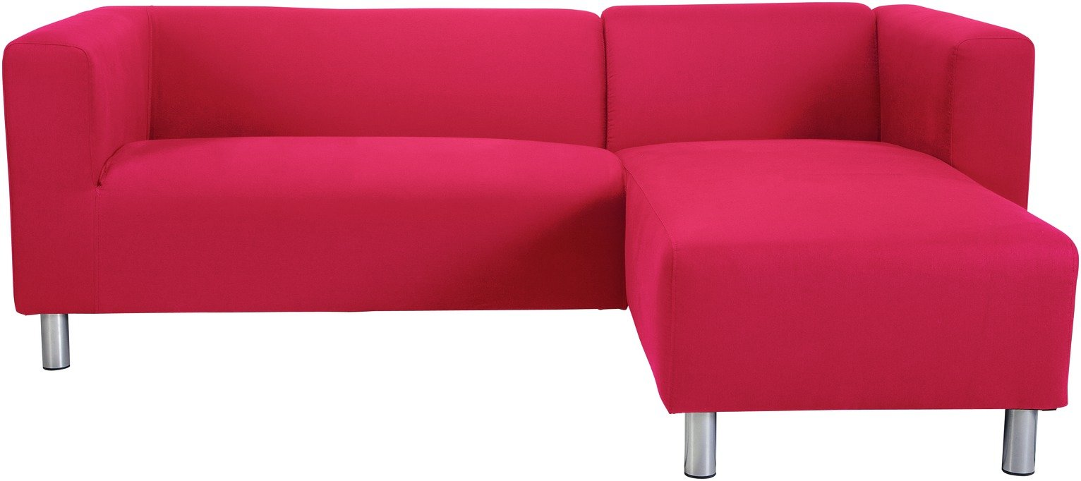 Argos Home Moda Right Corner Fabric Sofa - Red