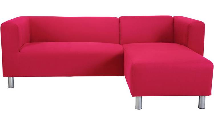 Buy Argos Home Moda Right Corner Fabric Sofa - Red | Sofas | Argos