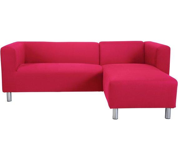 Argos Corner Sofa Jumbo Cord: Argos Red Leather Corner Sofa