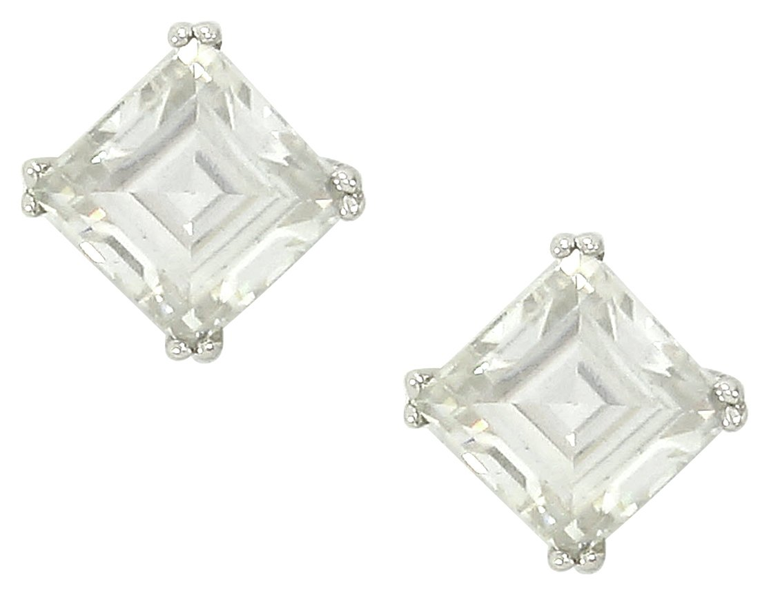 Sterling Silver - Cubic Zirconia - Stud Earrings.