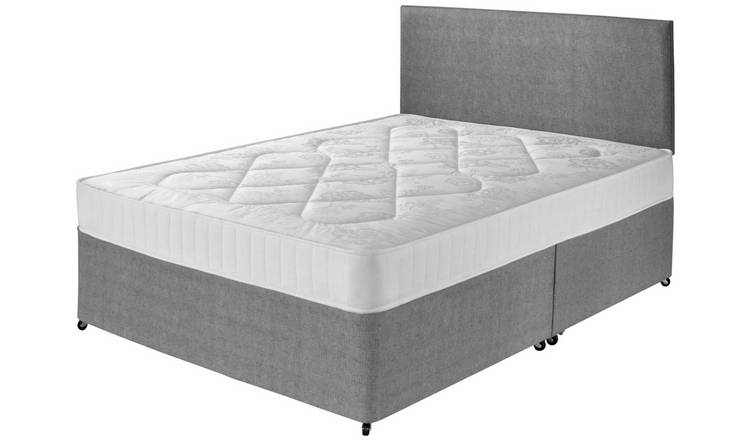 Argos Home Elmdon Comfort Small Double Divan Bed - Grey
