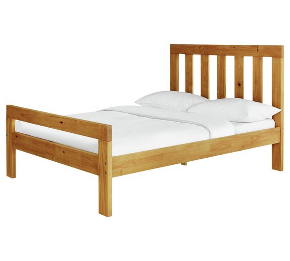 Buy Argos Home Chile Kingsize Bed Frame Oak Stain Bed Frames