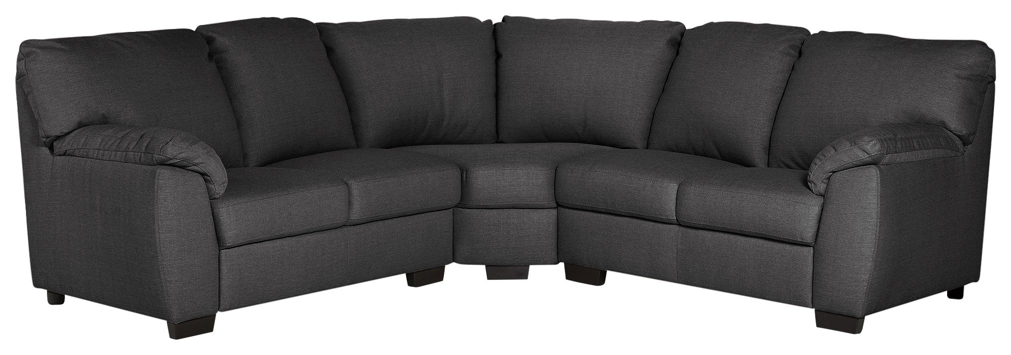 Argos Home Milano Corner Fabric Sofa - Charcoal